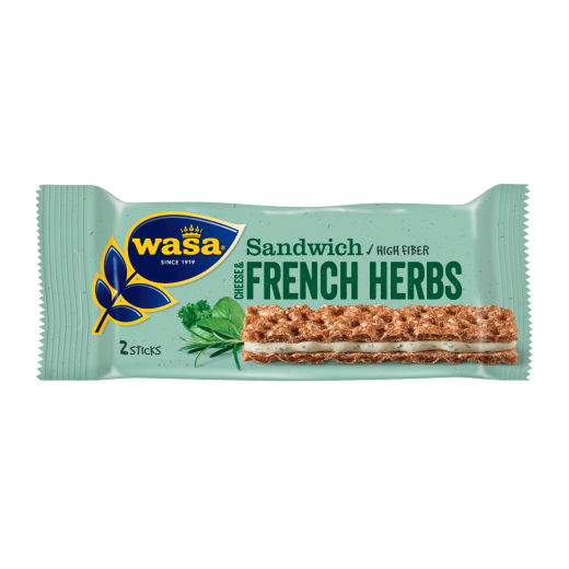 "Sandwich crackers with cheese & french herbs ""Wasa"", 30 g"