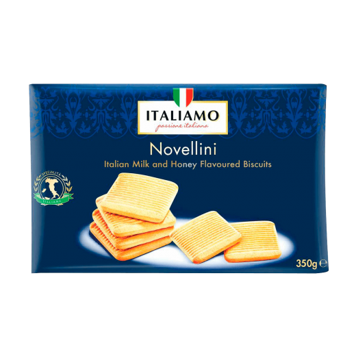 "Shortcake biscuits with milk and honey ""Italiamo"" Novellini, 350 g"