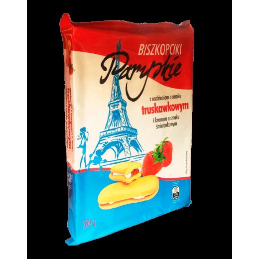 """Strawberry cream biscuits """"Paryskie"""", 200 g"""
