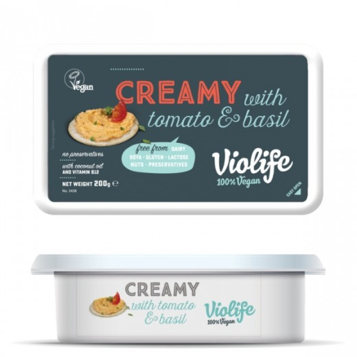 "Vegan tomato & basil creamy spread ""Violife"", 200 g"