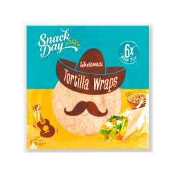"Vegan wholemeal Tortilla wraps ""Snack Day"" 6x25 cm, 370 g"