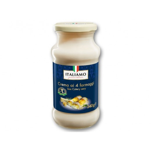 "Pasta sauce with four cheese ""Italiamo"", 340 g"