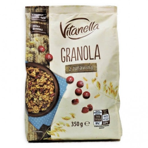 "Crunchy granola with cranberry ""Vitanella"", 350 g"