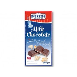 "Milk chocolate with Popcorn and Popping candy ""Mcennedy"", 200 g"