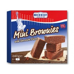 "Mini Brownies with chocolate pieces ""Mcennedy"", 240 g"