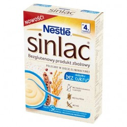 "Gluten free, no added sugar cereal Sinlac 4 ""Nestle"", 300 g"