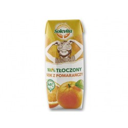"100% Orange juice ""Solevita"", 250 ml"