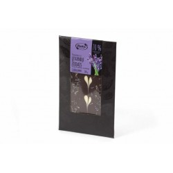 """Dark chocolate with lavender flowers """"Ruta"""" 70% cocoa, 100 g"""