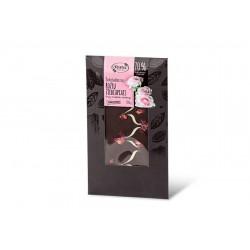 "Dark chocolate with rose petals ""Ruta"" 70% cocoa, 100 g"