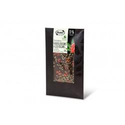 "Dark chocolate with hemp seeds & goji berries & stevia ""Ruta"" 70% cocoa, 100 g"