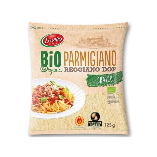 "BIO Organic grated Parmigiano Reggiano Dop cheese ""Lovilio"", 125 g"