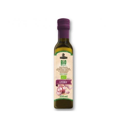 "BIO Organic first cold pressed olive oil with garlic ""Primadonna"", 250 ml"