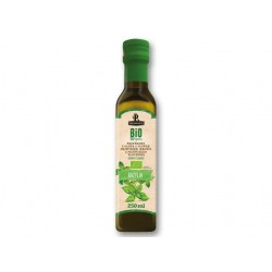 "BIO Organic first cold pressed olive oil with basil ""Primadonna"", 250 ml"