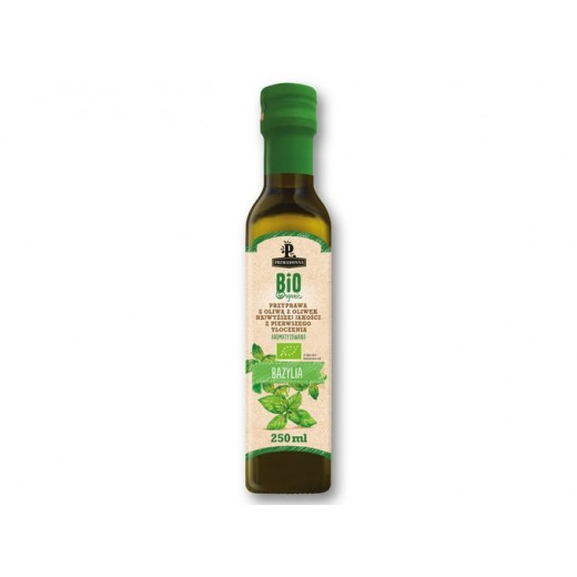 """BIO Organic first cold pressed olive oil with basil """"Primadonna"""", 250 ml"""