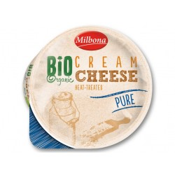 """BIO Organic heat-treated Pure cream cheese """"Milbona"""", 160 g"""