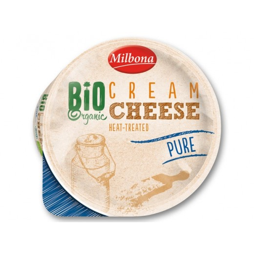 "BIO Organic heat-treated Pure cream cheese ""Milbona"", 160 g"