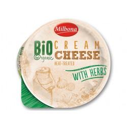 """BIO Organic heat-treated cream cheese with herbs """"Milbona"""", 160 g"""