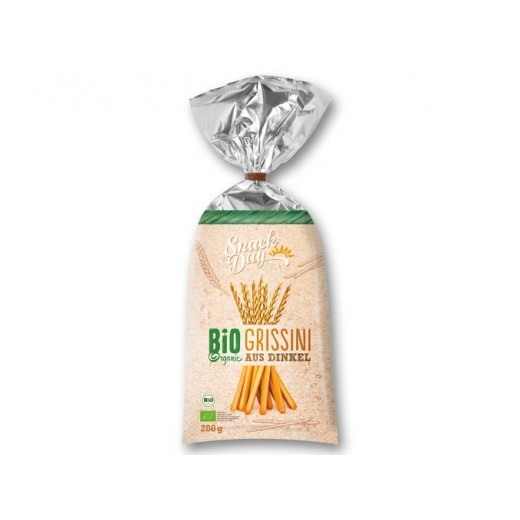"BIO Organic breadsticks Grissini ""Snack day"", 200 g"