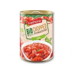 "BIO Organic chopped tomatoes with herbs ""Freshona"", 400 g"
