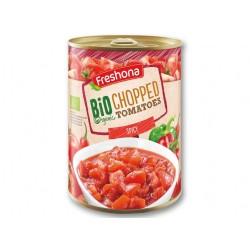 "BIO Organic spicy chopped tomatoes ""Freshona"", 400 g"