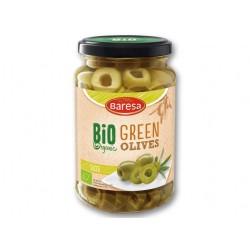 "BIO Organic sliced green olives ""Baresa"", 370 ml"