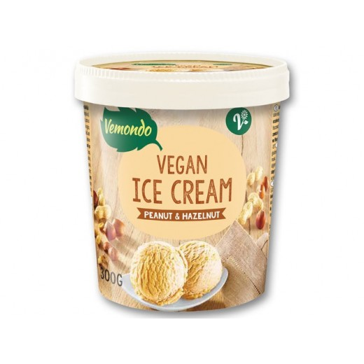 "Vegan ice cream with peanut & hazelnut ""Vemondo"", 300 g"
