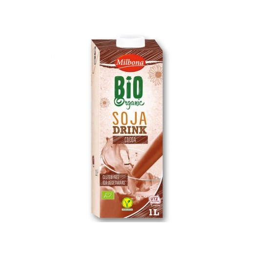 "BIO Organic cocoa soja drink ""Milbona"", 1L"