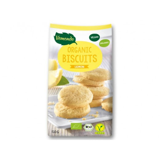 "BIO Organic vegan biscuits with lemon ""Vemondo"", 150 g"