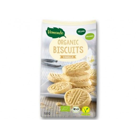 """BIO Organic vegan biscuits with vanilla """"Vemondo"""", 150 g"""