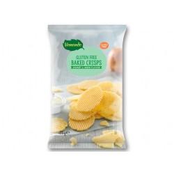 "Gluten free baked crisps ""Vemondo"" yoghurt & onion flavour, 125 g"