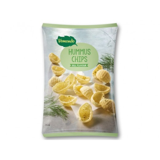 "Vegetarian hummus chips ""Vemondo"" dill flavour, 135 g"