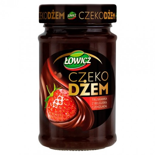 "Strawberry jam with Belgian chocolate ""Lowicz"", 250 g"