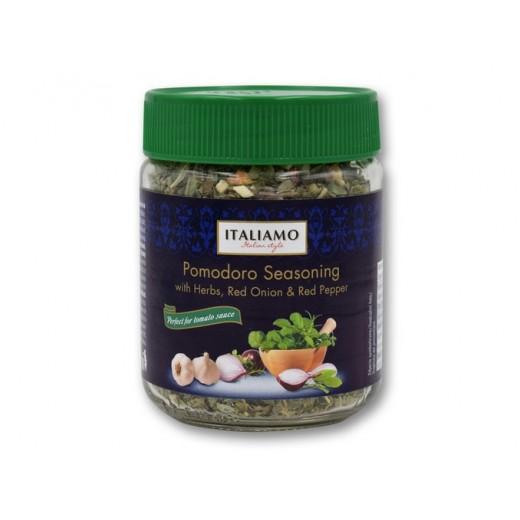 "Pomodoro Italian seasoning with herbs, red onion & red pepper ""Italiamo"", 22 g"