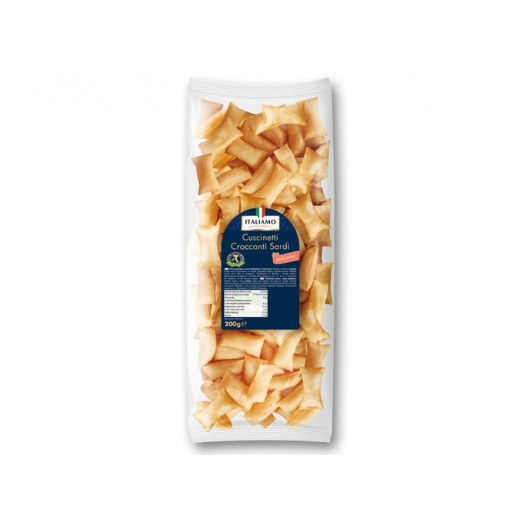 "Salty snack from Sardinia with pizza taste ""Italiamo"", 200 g"