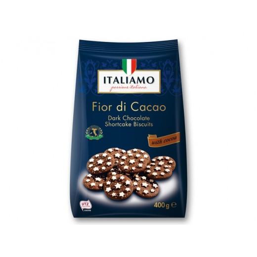 """Dark chocolate shortcake biscuits with cocoa """"Italiamo"""" Fior di Cacao, 400 g"""