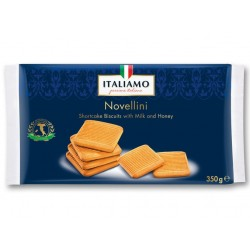 "Shortcake biscuits with milk & honey ""Italiamo"" Novellini, 350 g"