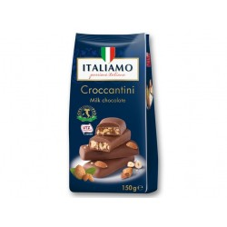 "Milk chocolate with almonds & hazelnuts ""Italiamo"" Croccantini, 150 g"