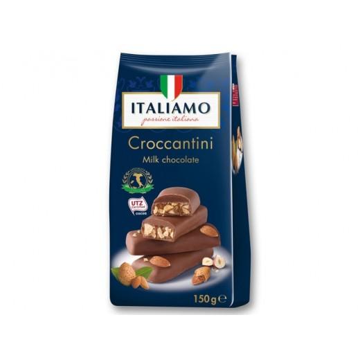 "Milk chocolate with almonds & hazelnuts ""Italiamo"" Croccantini, 150 g"