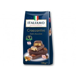 "Dark chocolate with almonds & hazelnuts ""Italiamo"" Croccantini, 150 g"