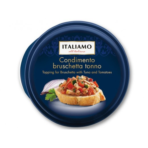 "Topping for bruschetta with tuna & tomatoes ""Italiamo"" Condimento tonno, 150 g"