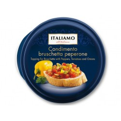 "Topping for bruschetta with peppers, onions & tomatoes ""Italiamo"" Condimento peperone, 150 g"