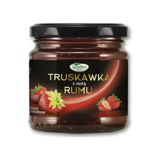 """Strawberry jam with a hint of rum """"Sympathica"""", 220 g"""