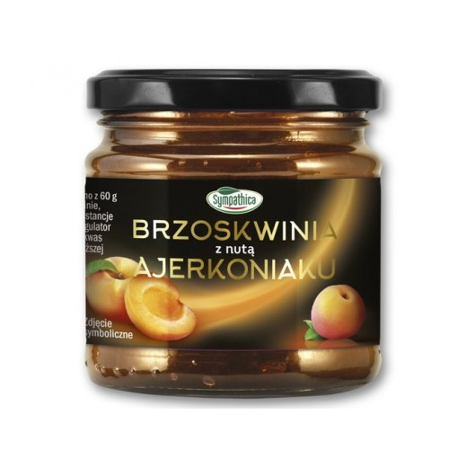 "Peach jam with a hint of Eggnog ""Sympathica"", 220 g"