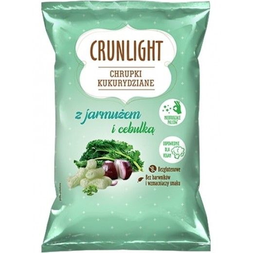 """Corn chips with kale & onion """"Crunlight"""", 40 g"""