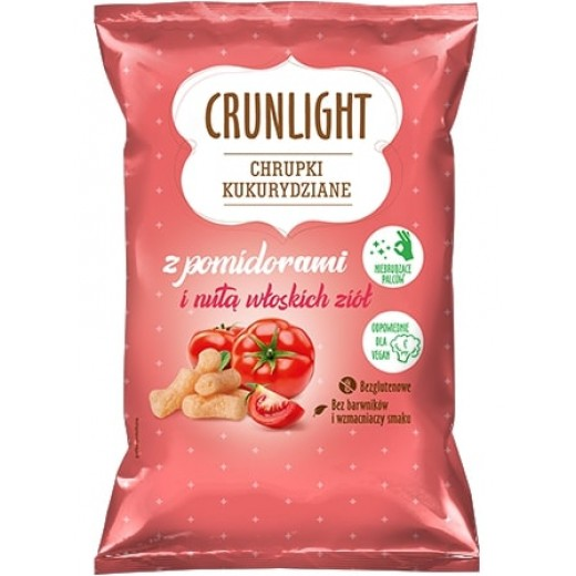 "Corn chips with tomatoes & hint of italian herbs ""Crunlight"", 40 g"