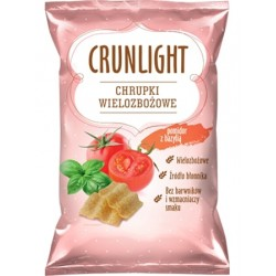 "Multigrain crisps with tomato & basil ""Crunlight"", 70 g"