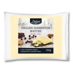 "English farmhouse mature cheddar cheese ""Deluxe"", 250 g"