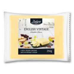 "English vintage cheddar cheese ""Deluxe"", 250 g"
