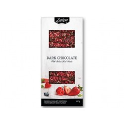 "Dark chocolate with raspberry & strawberry ""Deluxe"", 120 g"