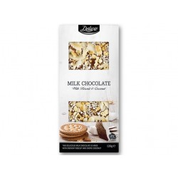 "White chocolate with biscuit & coconut ""Deluxe"", 120 g"